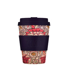 Load image into Gallery viewer, William Morris Wandle 12oz Ecoffee Reusable Bamboo Coffee Cup with Lid