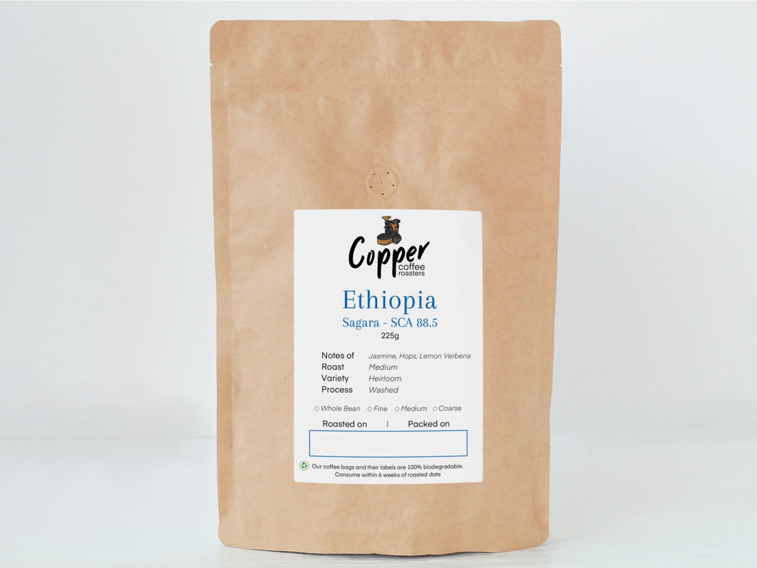 Ethiopia Sagara Lot 3 - Whole & Ground Roasted Ethiopian Coffee Beans