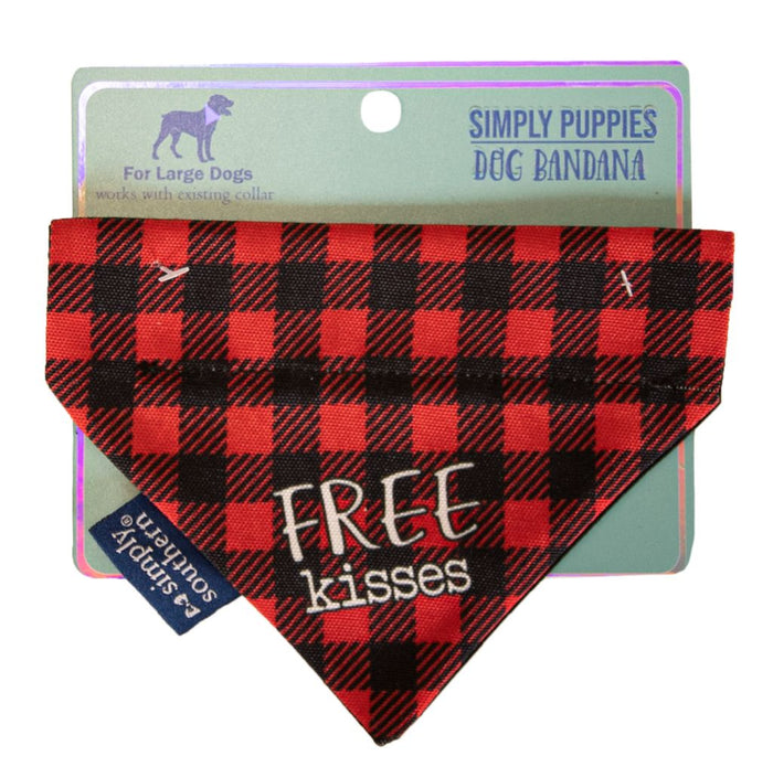 Simply Southern Dog Bandana - Kiss