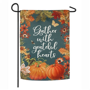 Garden Flag - Gather with Grateful Hearts