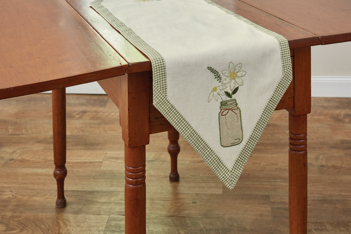 Table Runner 13x42-Mason Jar