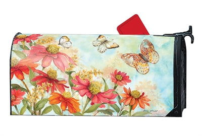 Mailbox Cover - Summer Zinnias