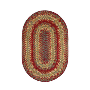 Braided Rug HS 27x45 Oval - Cider Barn