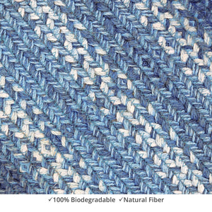 Braided Rug HS 5x8 Rectangle - Denim