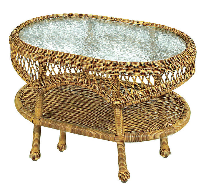 Wicker Coffee Table - Antique