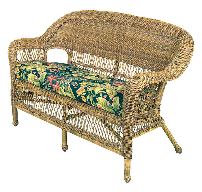 Wicker Loveseat - Antique