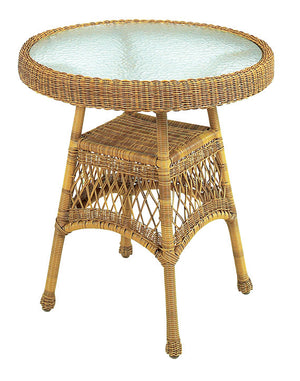 Wicker Bistro Table - Antique