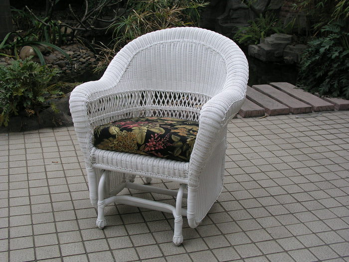 Wicker Single Glider-White