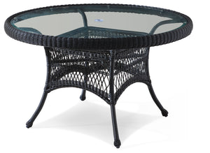 Wicker Dining Table - Ebony