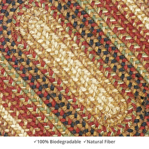 Braided Rug HS 20x30 Oval - Gingerbread