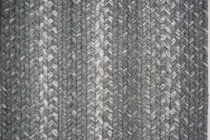 Braided Rug HS 4x6 Oval - Grey Cloud