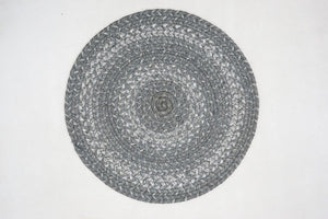 Braided Trivet HS 15in Large - Grey Cloud