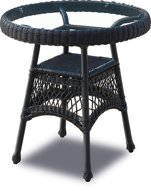Wicker Bistro Table - Ebony
