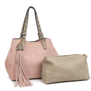 Aliza Sachel with tassel - Light Pink