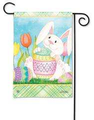 Garden Flag - Easter Bunny is Here
