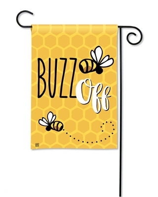 Garden Flag - Buzz Off