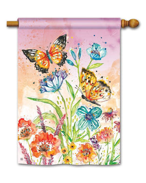 Standard Flag - Butterfly Blossoms
