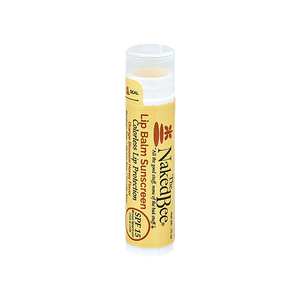 Naked Bee Colorless Lip Balm Sunscreen-Orange Blossom Honey