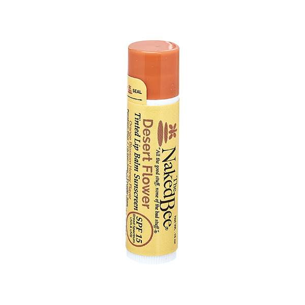 Naked Bee SPF 15 Tinted Lip Balm-Desert Flower