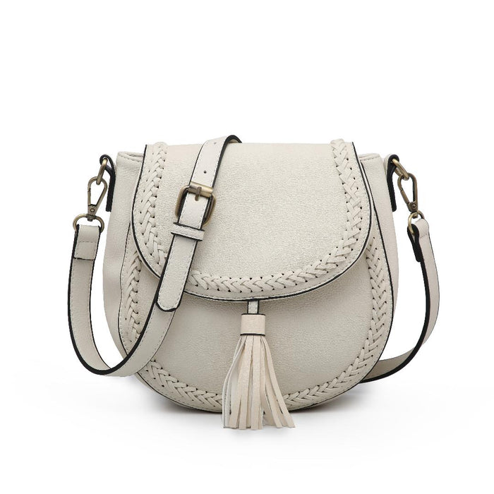 Penelope Saddle Bag - White
