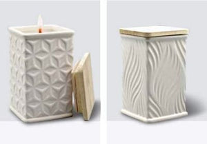 Swan Creek Candle - White Collection - Square - Gingerbread
