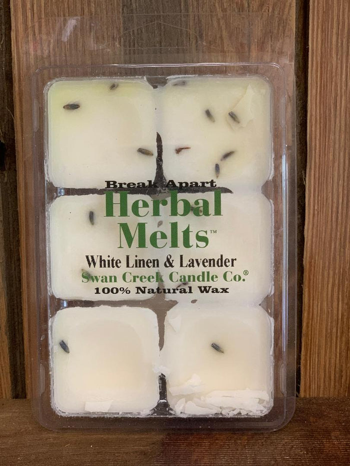 Swan Creek Candles - Herbal Melts - White Linen & Lavender