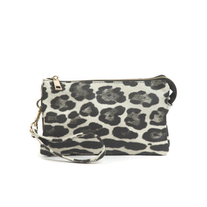 Riley Crossbody - Leopard Print Grey