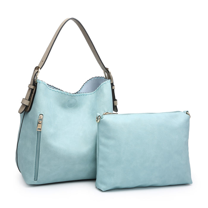 Alexa Distress Hobo Bag - Aqua