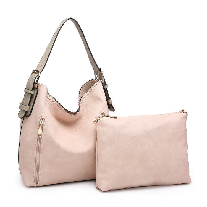 Alexa Distress Hobo Bag - Light Pink
