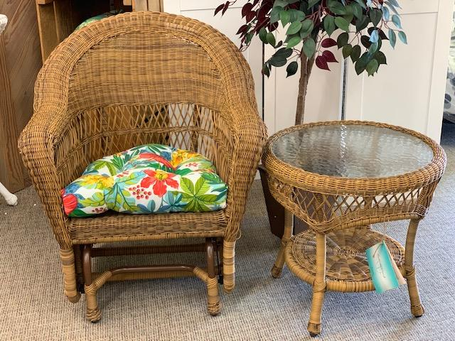 Wicker Single Glider-Antique