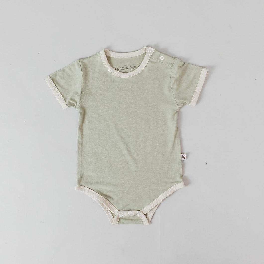 Sage Dove Short Sleeve Onesie