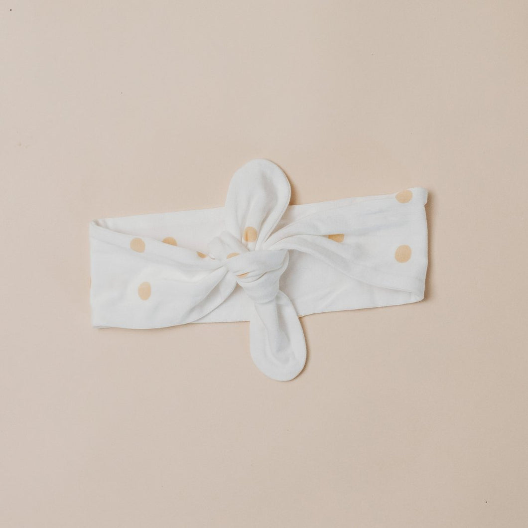 Bamboo Headband - Wheat Spot