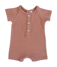 Load image into Gallery viewer, Apricot Cotton Button Romper