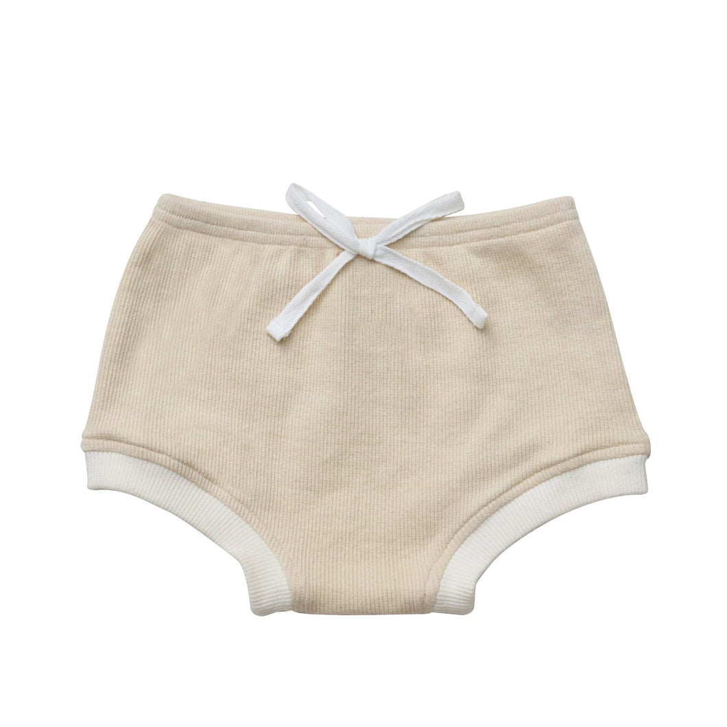 Ribbed Bloomers - Beige