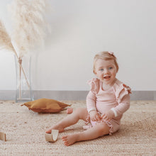 Load image into Gallery viewer, Ribbed Ruffle Bloomers - Dusty Pink