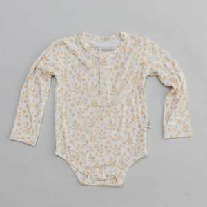 Organic Bamboo Cotton Long Sleeve Bodysuit - Meadow