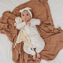 Load image into Gallery viewer, Organic Bamboo Cotton Long John Onesie - Wheat Spot