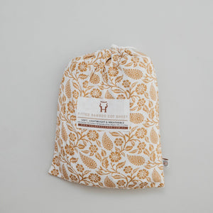 Bamboo Fitted Cot Sheet - Ginger Boho