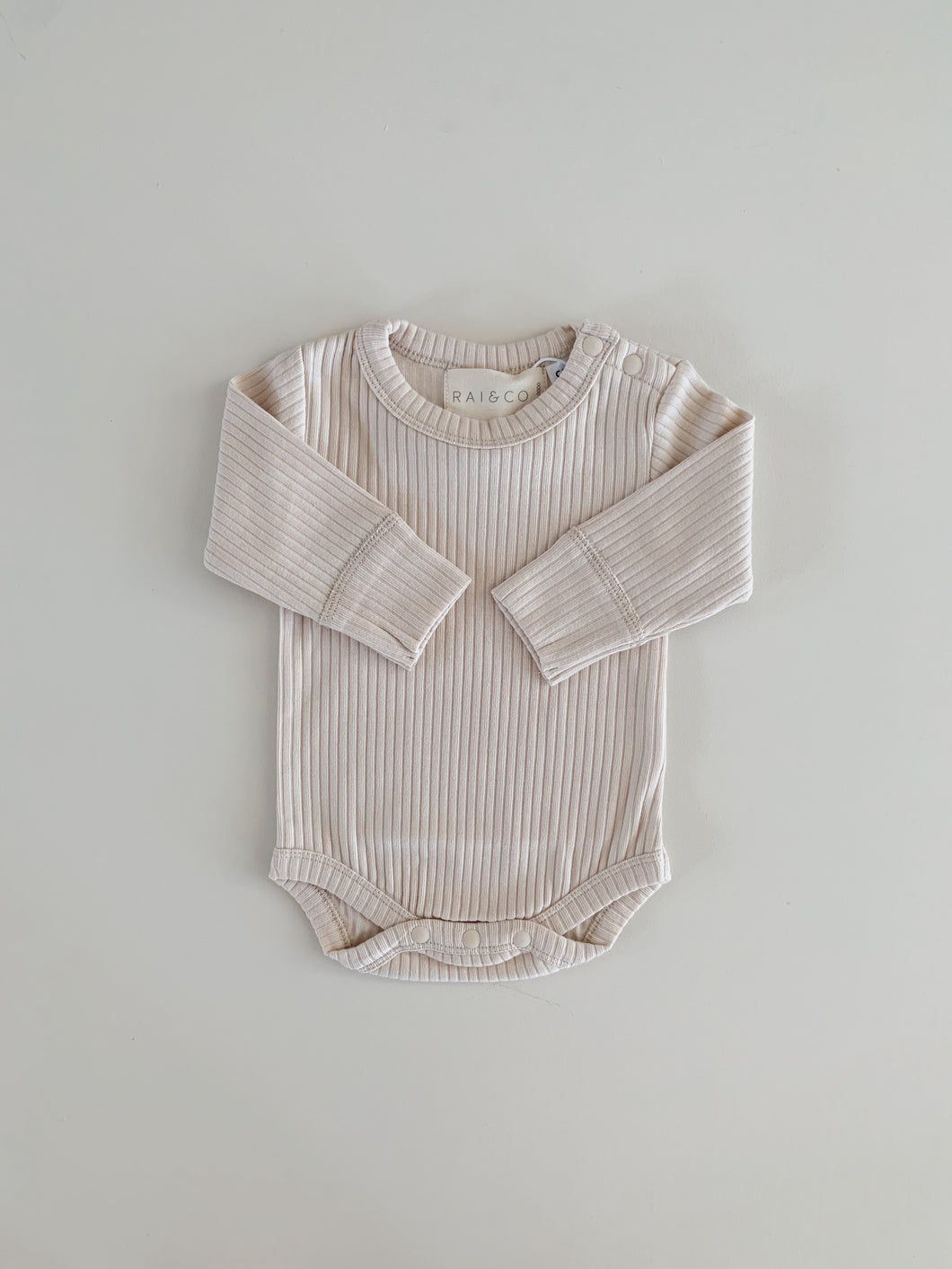 Beige Basics Long Sleeve Bodysuit