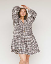 Load image into Gallery viewer, Black Gingham Avalon Smock Dress
