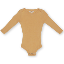 Load image into Gallery viewer, Dijon Ribbed Essential Bodysuit