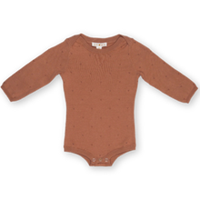 Load image into Gallery viewer, Terracotta Rose Pointelle Bodysuit