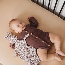 Load image into Gallery viewer, Rib Knit Long Sleeve Onesie - Mulberry