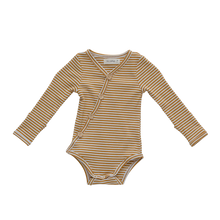 Load image into Gallery viewer, Mustard Stripe Bodysuit