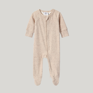 Beige Speckled Organic Zip Growsuit