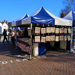 Great jute bags at Stratford upon Avon market