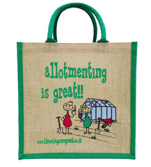 Allotmenting is Great Jute Shopping Bag
