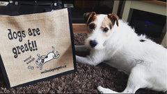 bobby the terrier jute shopper