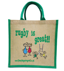 Rugby is Great Jute Shopping Bag