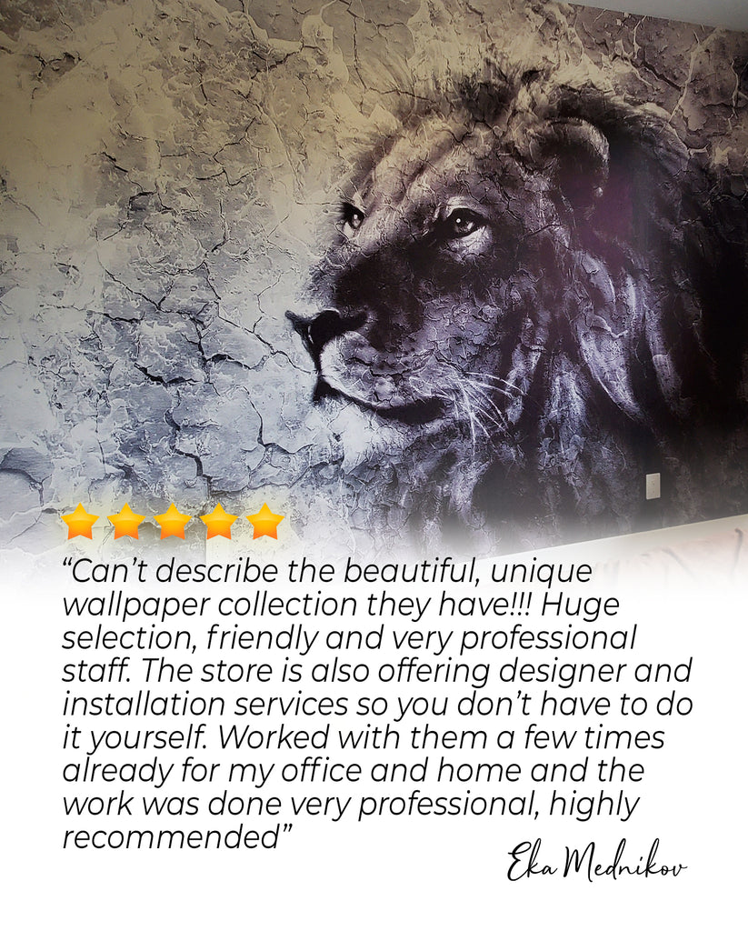 Wallpaper selection, animal, lion wallpaper, excellent service, winnipeg, wallpaper installation, mural, designer, professional, home, office , wall, decoration, muralwallpaper, wallcovering, stone, black and white